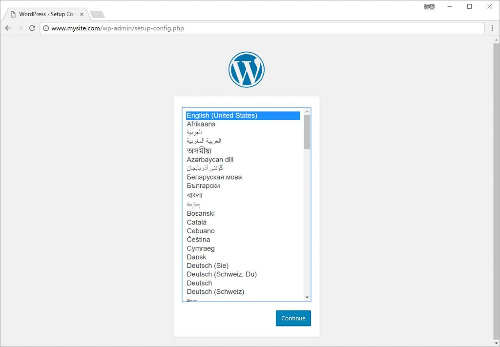 Wordpress安装第一步