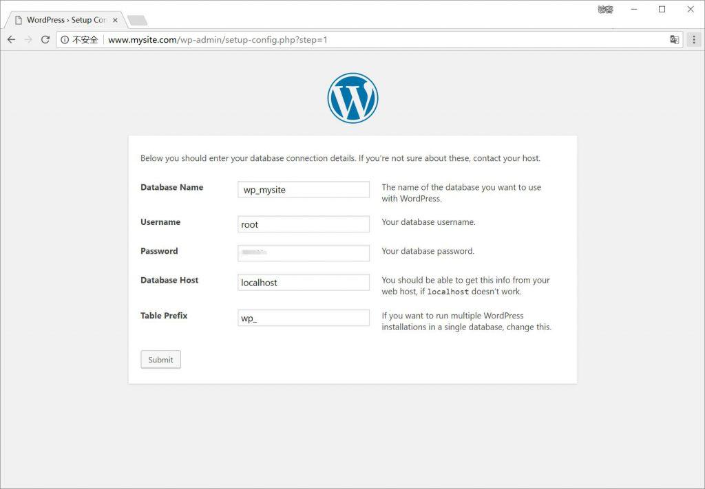 Wordpress数据库配置